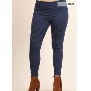Pants - Plus Size Moto Jeggings